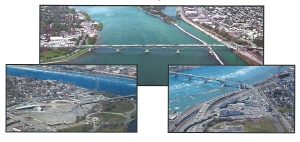 Photo from Sept. 2007 Peace Bridge Expansion Project DEIS cover