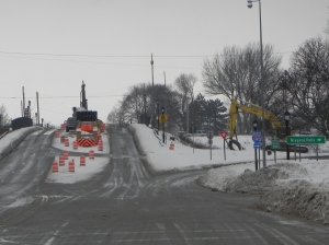 Porter Ave construction 02-04-15