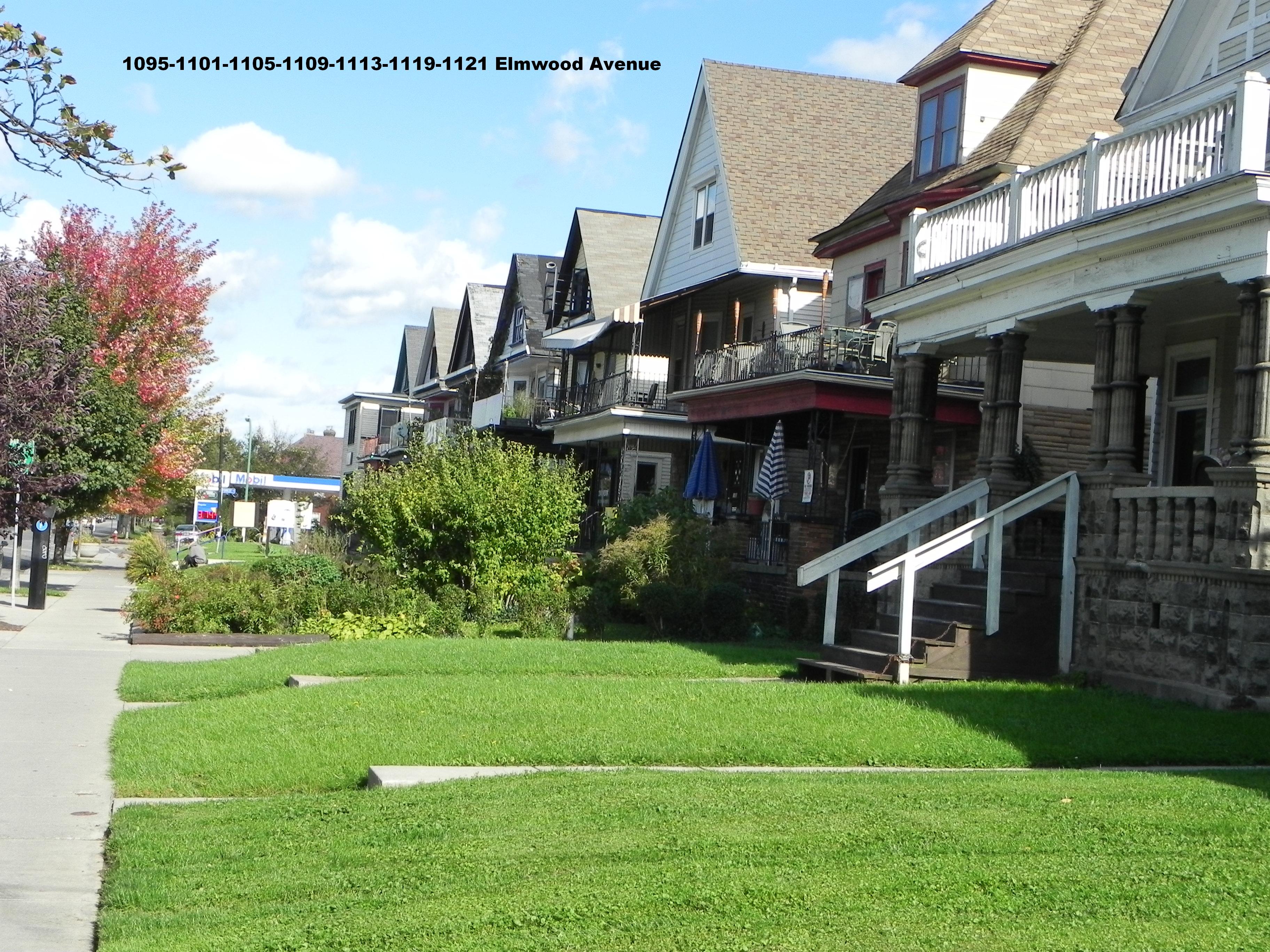 Exh 76 - Front yards 1095-1121 Elmwood