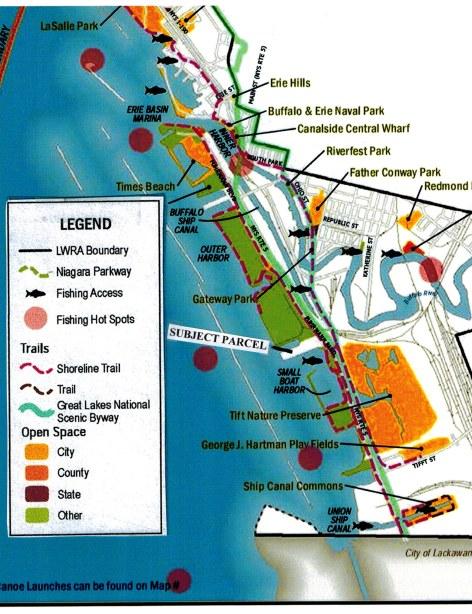 LWRP map detail rec areas - LEGEND