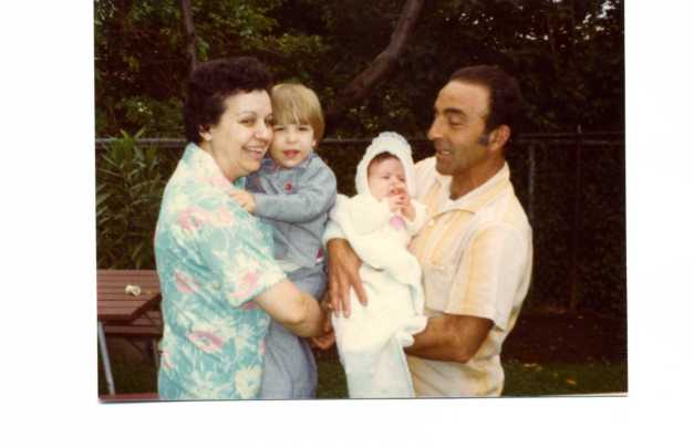 72 - Nana & Papa with Blake and Kara 1976