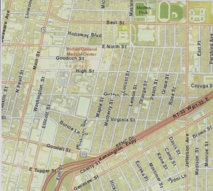 BNMC and Fruit Belt map