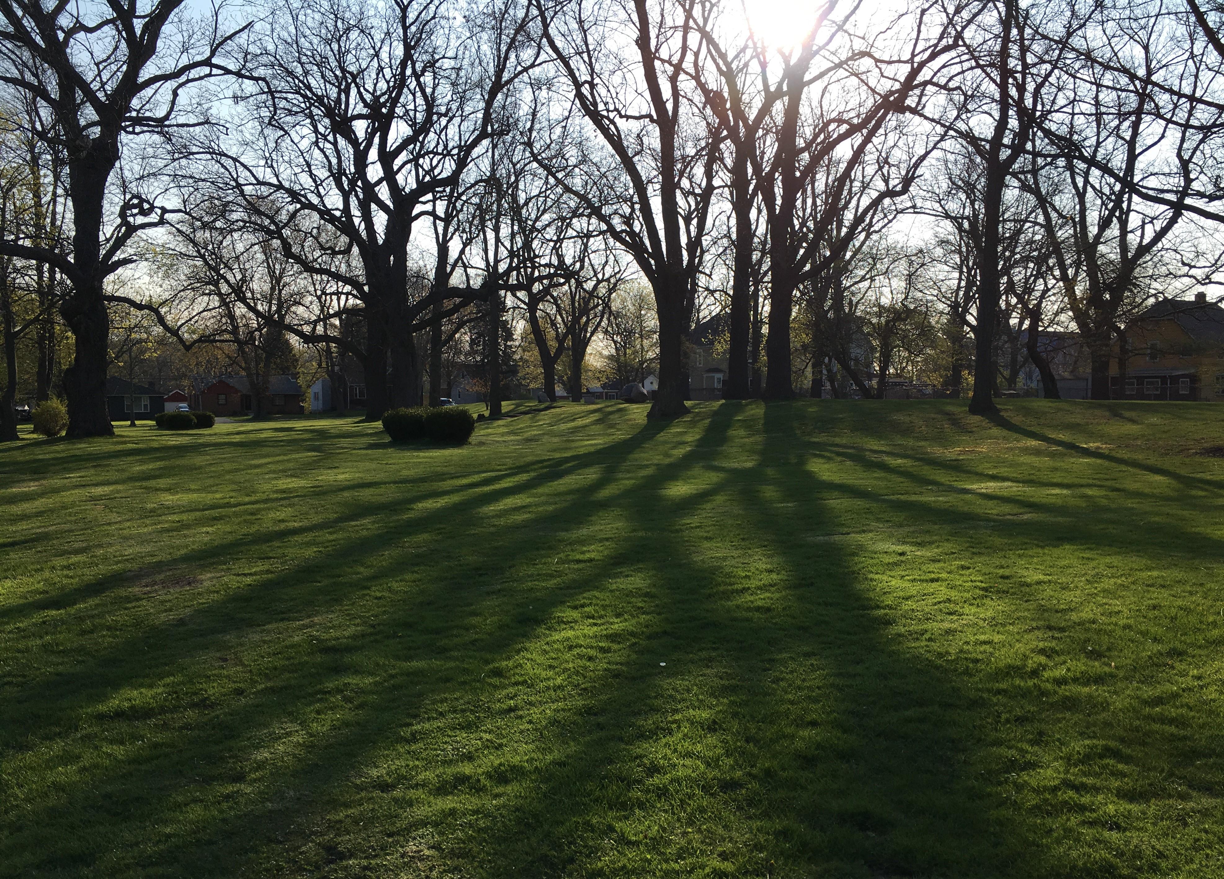 Saturday Morning Shadows at Seneca Indian Park 04-24-21