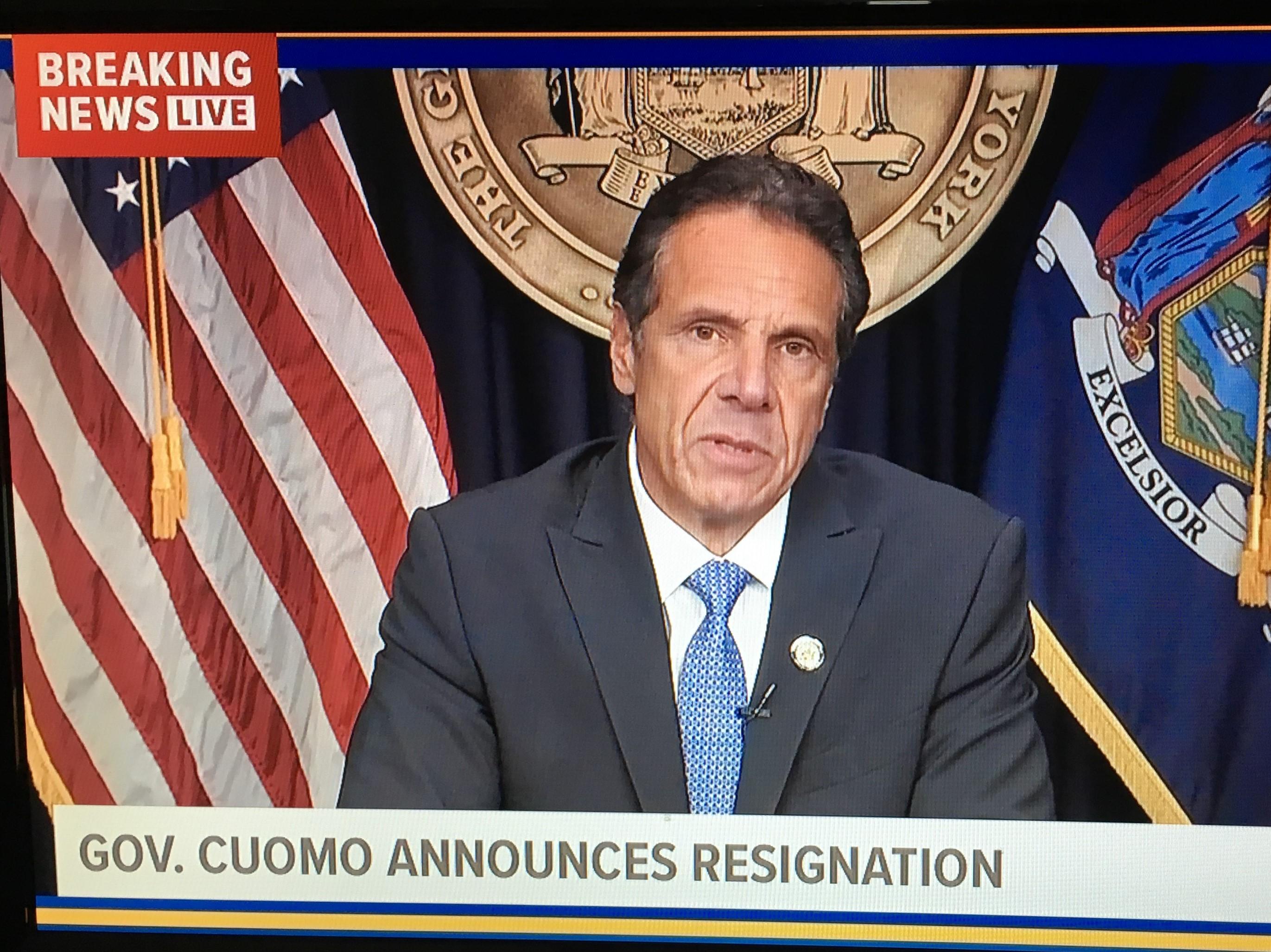 Gov. Cuomo Announces Resignation 08-10-2021